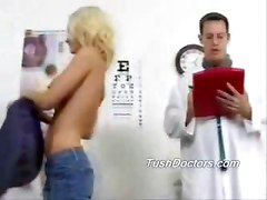 Brandy sees Dr Jack to check out her ass and pussy with wild sex later