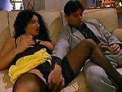 erika bella black stockings anal cunt cumshot tits sofa pussy