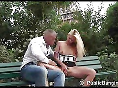 Non Nude Public nudity blonde blowjob