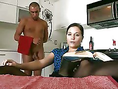 Kitchen Pussy Licking cfnm skirts stockings