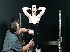 BDSM Whipping cage corporal punishment mei mara punished spanked
