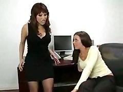 penny flame office threesome