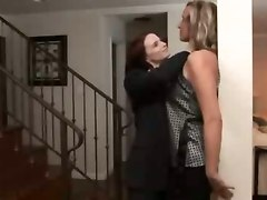lesbians licking pussy rubbing kissing strap on