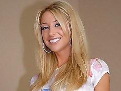 blonde  brunette  cute  panties  cheerleader  group  threesome  clothes off  dildo Charlie Laine  Sammie Rhodes  Jazy Berlin