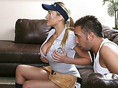 blonde  big tits  massive tits  blowjob  tits fuck Alanah Rae