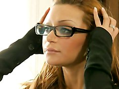 office  secretary  business lady  stylish  glasses  long hair  redhead  hairstyle  business clothes  italian  european  big cock  good cock  lingerie  milf  stockings  sex at work  at work  cute  sexy  babe  hot  white stockings  blowjob  anal  into mouth