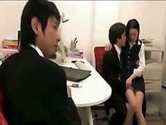 Asian Office Lady Cosplay Hardcore Cum BJ HJ Asian