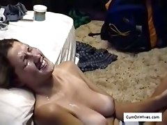 amateur homemade wife wives facial cumshots compilation