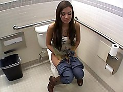 big ass  beautiful ass  from behind  toilet  bathroom  brunette  anal  cock ride  floor  voyeur  quality