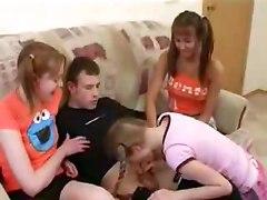 hot teen girls 3 girls handjob blowjob